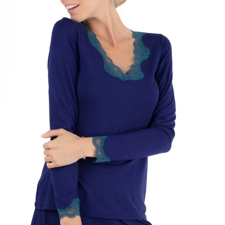 ANTIGEL Top manches longues Simply Perfect Bleu