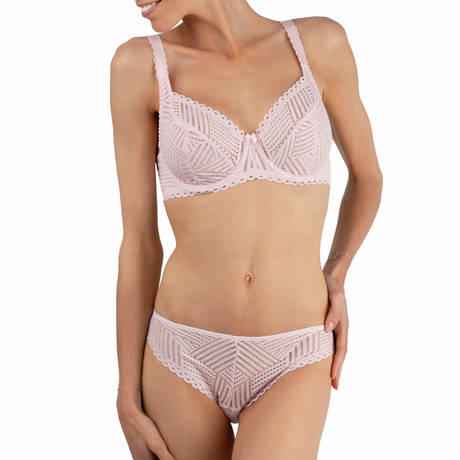 ANTIGEL Slip charme Tressage Graphic Pink Stellaire