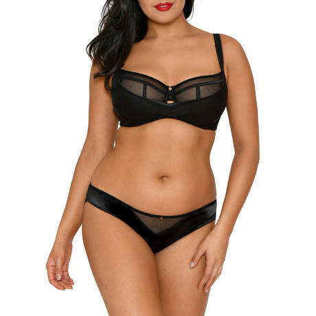 SCANTILLY Slip Peek A Boo Noir