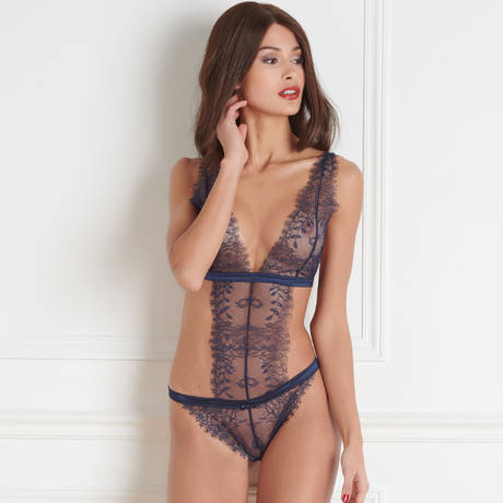 MAISON CLOSE Body triangle string Villa Satine Marine