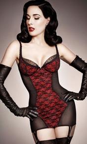 Dita Von Teese Sheer Witchery Noir/Rouge