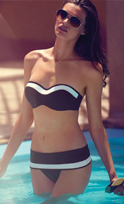Huit Sunset Stripes Noir