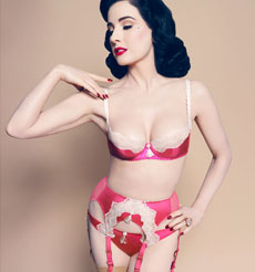 Lingerie Von Follies By Dita Von Teese Collection Starlift Magenta