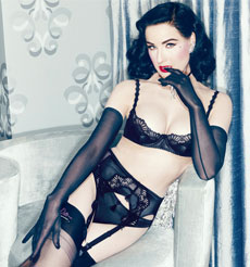 Lingerie Von Follies By Dita Von Teese Collection Starlift Noir