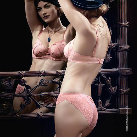 Soutien-gorge plunge Douce Faveur Retro Pink
