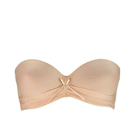 Soutien-gorge bandeau coques Drapé Délice Nude