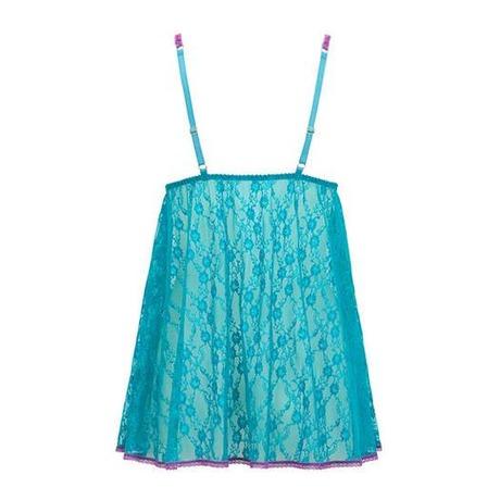 Babydoll Monica Bleu Turquoise/Violet