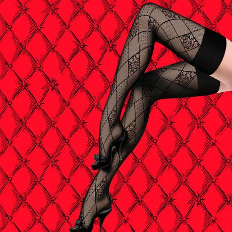 Bas-up Arlequin Les Bas et Collants Noir