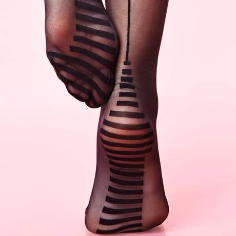 Bas-up Couture jarretière lacée Les Bas et Collants Noir