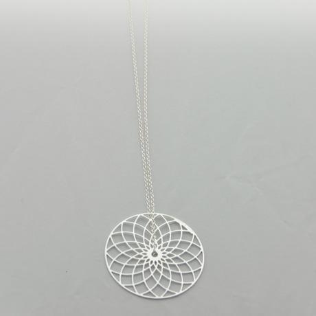 Collier chaîne Spirale argenté