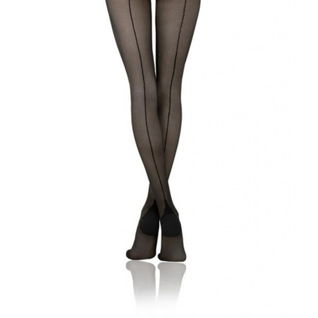 Collant Séduction Couture Noir
