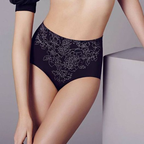 Culotte galbante Beauty Secret Flower Power Noir