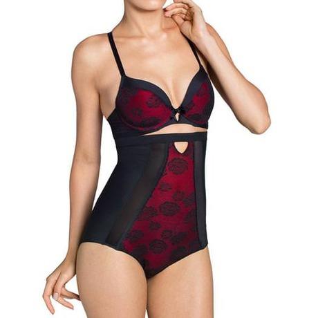 Culotte haute galbante Vintage Sensation Noir/Rouge