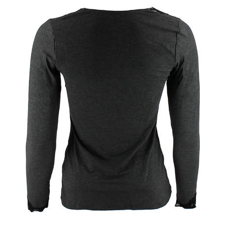 Tee-shirt manches longues Simply Perfect Gris/Noir