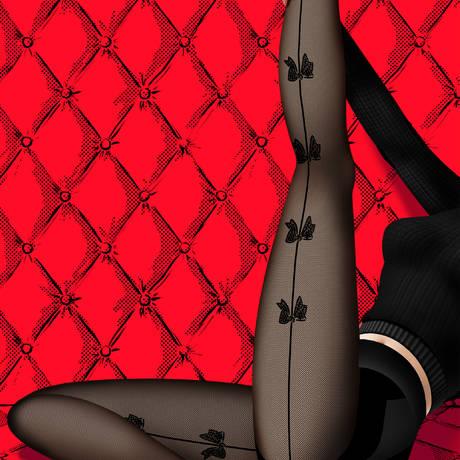 Collant Piccadilly Les Bas et Collants Noir