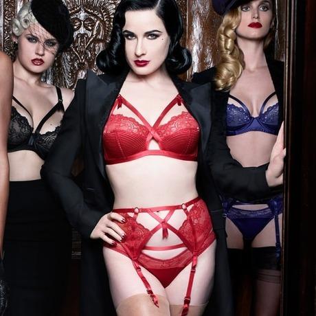 Porte-jarretelles Madame X Rouge