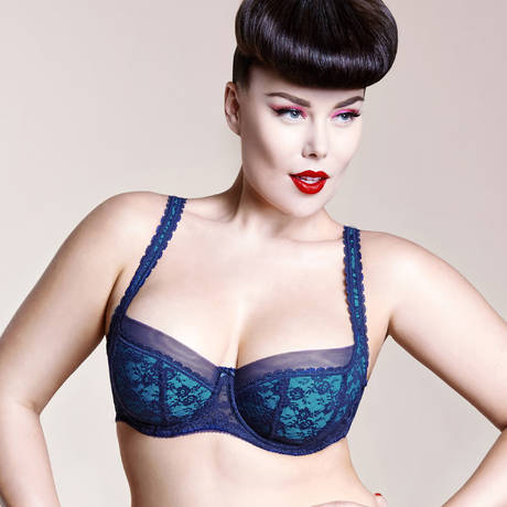 Soutien-gorge grande taille Sheer Witchery Bleu Bleu Marine/Turquoise