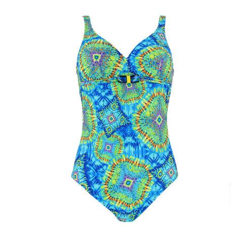 Maillot de bain 1 pièce nageur La Péruvienne Bleu Pérou