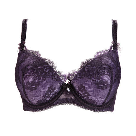 Soutien-gorge plunge grande taille Savoir Faire Blackberry Noir/Violet