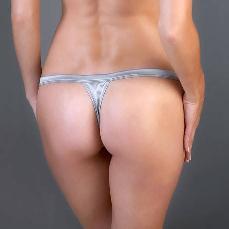 Mini string Villa Satine Gris/Blanc