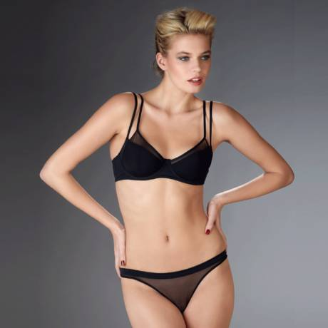 Soutien-gorge push-up triangle Pure Tentation Noir