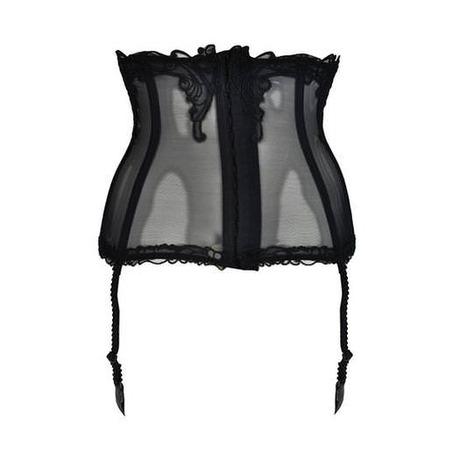 Galbe-taille porte-jarretelles Soir de Venise Noir