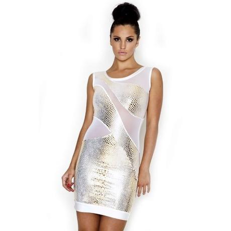 Quontum Gold Snake Dress