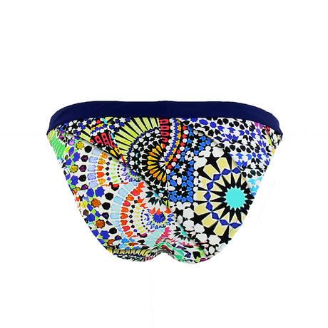 Maillot de bain slip taille basse Art Primitif Primitif Multicolore