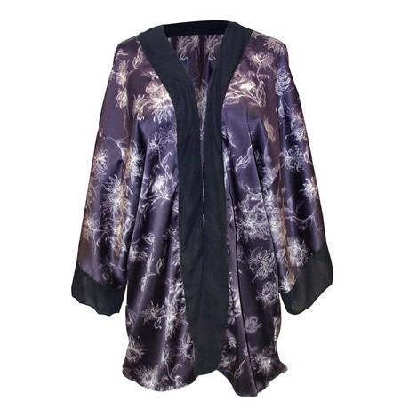 Kimono Saint-Honoré Noir/Violet