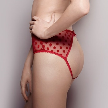 Culotte ouverte Rosalyn Rouge