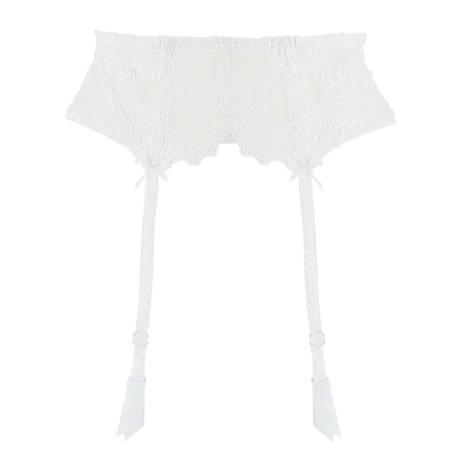Porte-jarretelles Dressing Floral Blanc