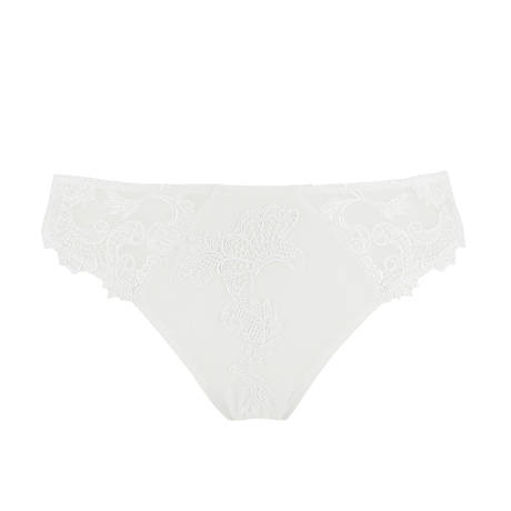 Slip séduction Dressing Floral Blanc
