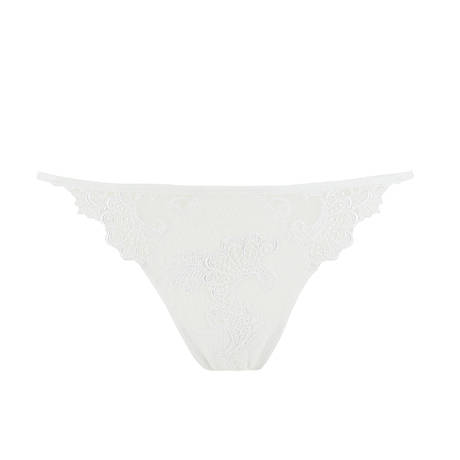 String sexy Dressing Floral Blanc