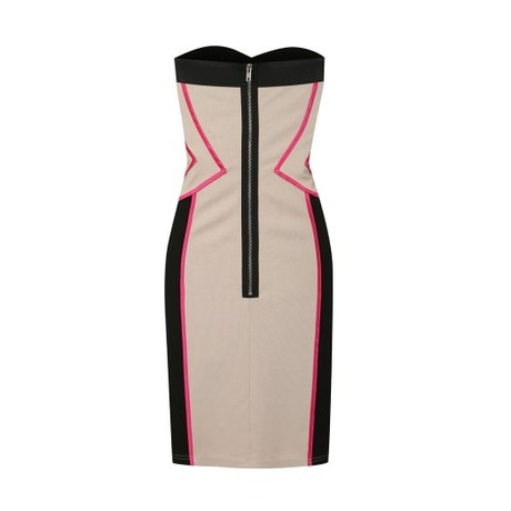 Robe bustier Pink Piping