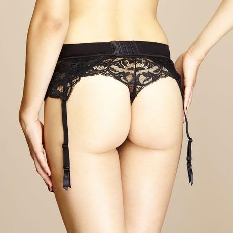 Serre-taille porte-jarretelles Piccadilly Noir