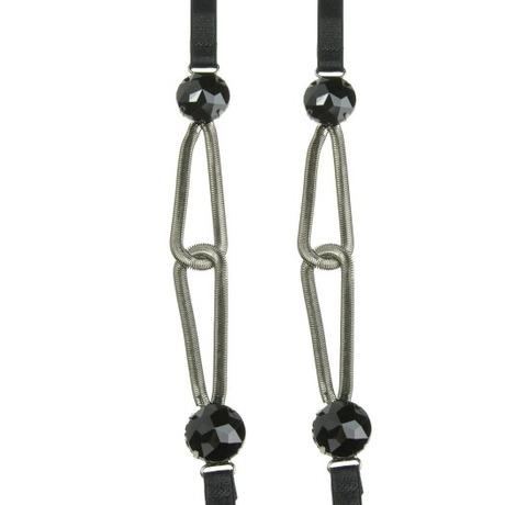 Pimp your bra bretelles noires à chaînes