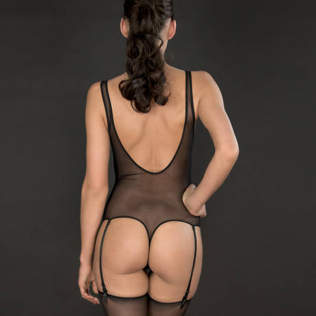 Body string porte-jarretelles Pure Tentation Noir