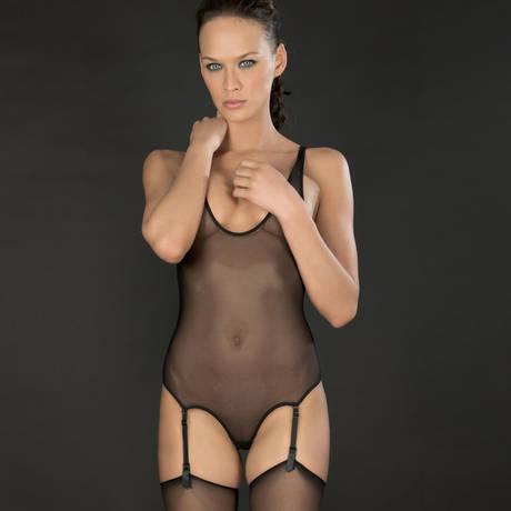 Body string porte-jarretelles Pure Tentation Noir