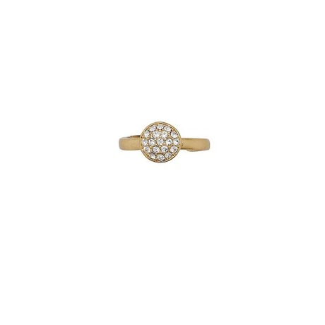 Bague strass Or