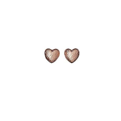 Boucles d'oreilles Coeur Or rose