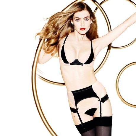 Porte-jarretelles Penelope Nude/Noir