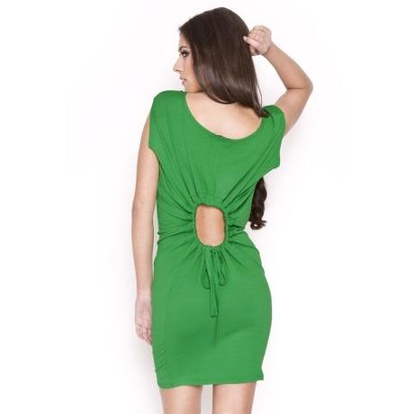 Quontum Hole Dress Vert