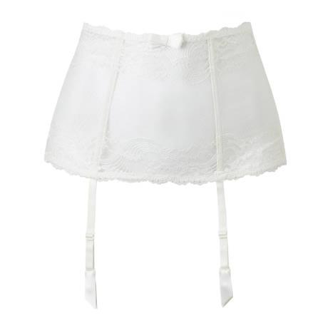 Serre-taille porte-jarretelles L'Insoumise Blanc