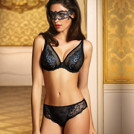 Soutien-gorge triangle glam Mahal Mystery Noir Argent