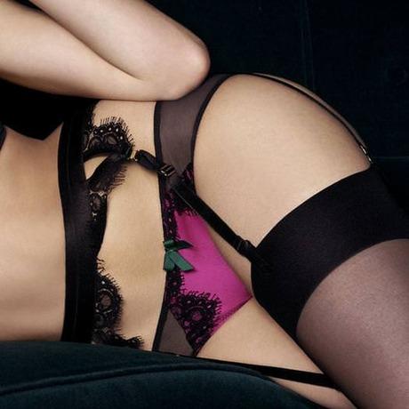 String Malena Magenta/Noir