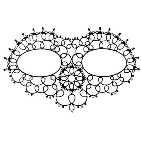 Tattoo 3D Face Mask Noir