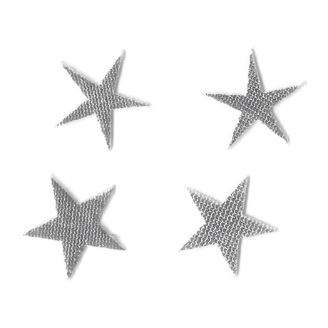 Tattoo 3D Star Argent
