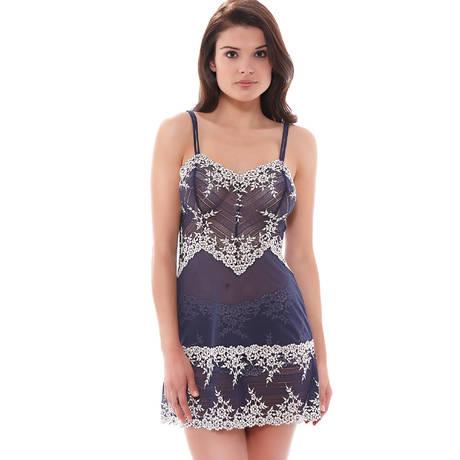 Nuisette Embrace Lace Bleu Marine/Blanc