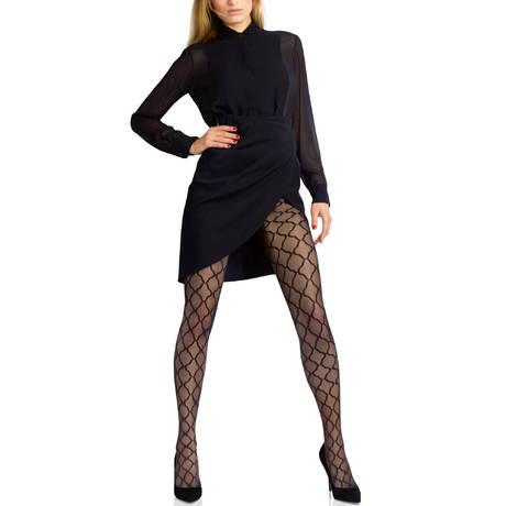 Collant Allure Micro Tulle Couture Noir