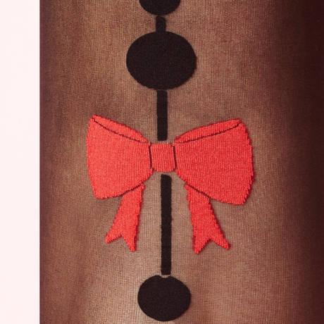 Collant A Croquer Les Bas et Collants Noir/Rouge